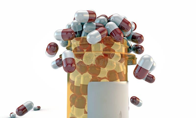 Botella de píldora ilustración del vector