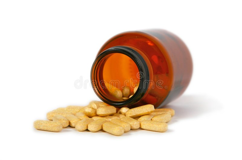Botella de píldoras imagen de archivo