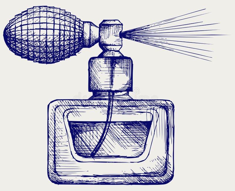 Botella de perfume stock de ilustración