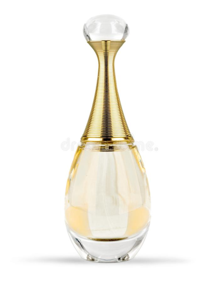 Botella de perfume de cristal fotografía de archivo libre de regalías