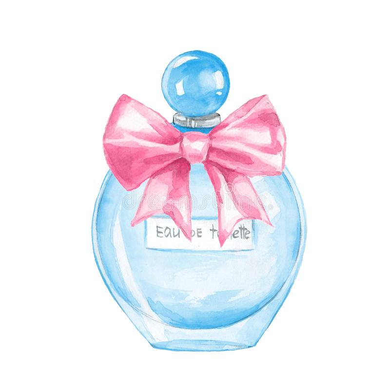 Botella de perfume watercolor libre illustration