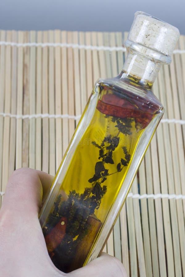 Botella de petróleo foto de archivo