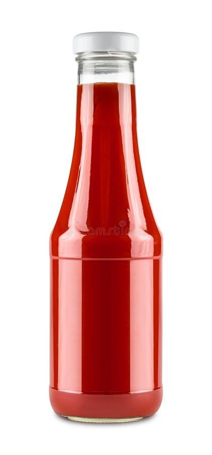 Botella de salsa de tomate imágenes de archivo libres de regalías