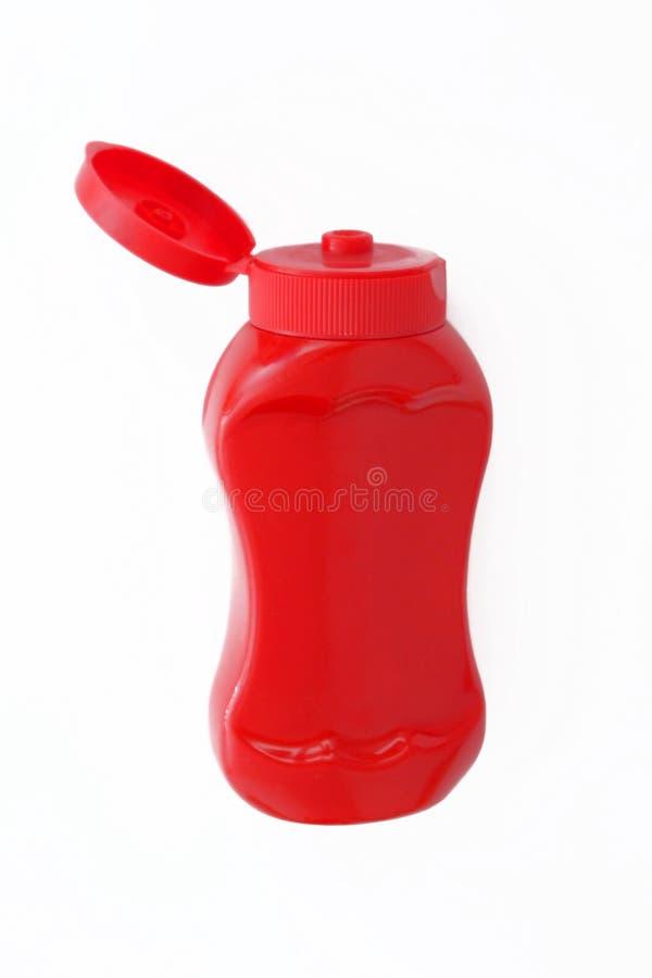 Botella de salsa de tomate foto de archivo libre de regalías