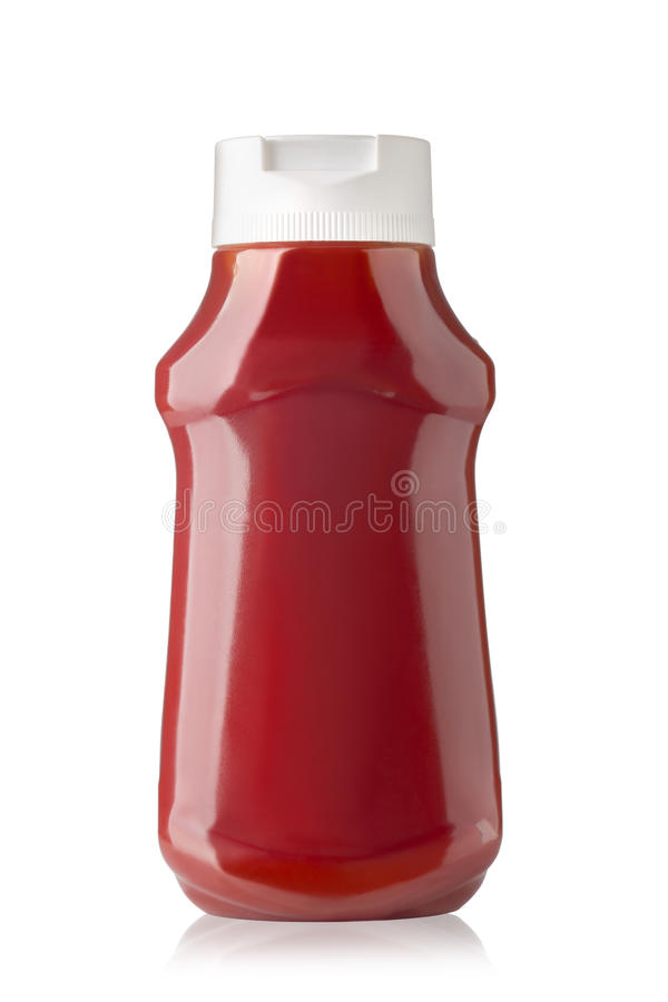 Botella de salsa de tomate imagenes de archivo