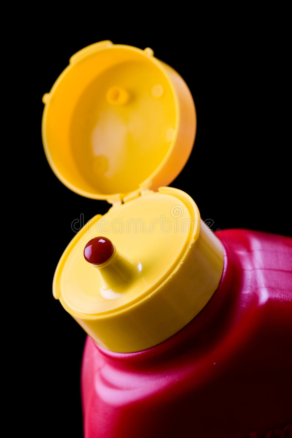 Botella de salsa de tomate imagen de archivo libre de regalías