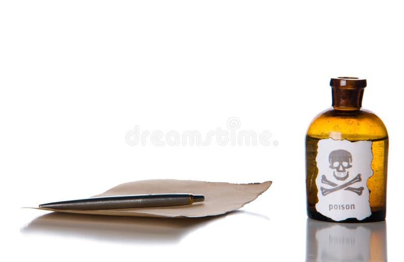 Botella de veneno imágenes de archivo libres de regalías
