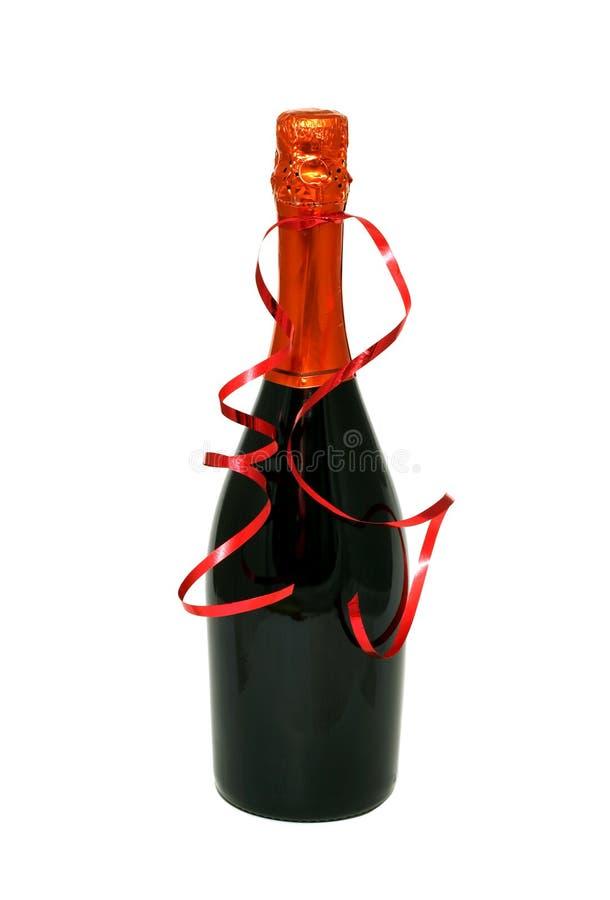 Botella de vino aislada en el fondo blanco fotografía de archivo