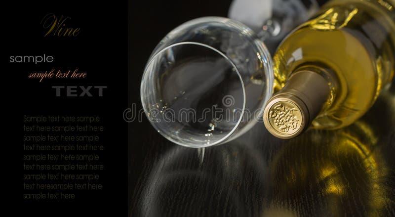 Botella de vino blanco seco fotos de archivo libres de regalías