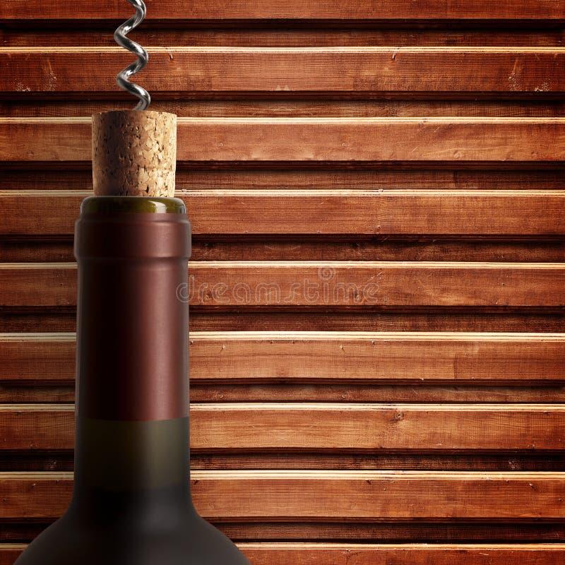 Botella de vino de la apertura fotografía de archivo