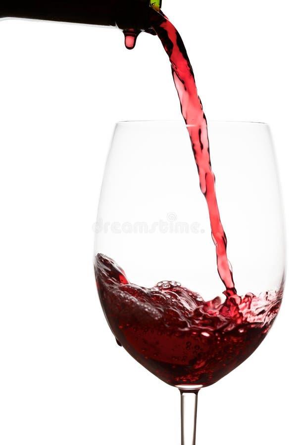Botella de vino de la gota fotografía de archivo libre de regalías