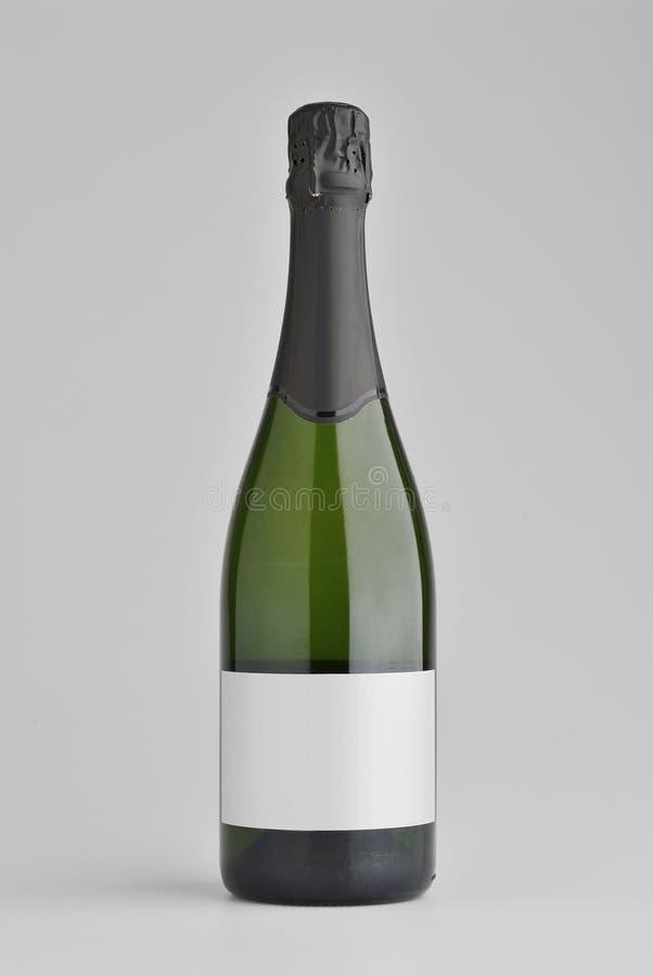Botella de vino espumoso foto de archivo libre de regalías