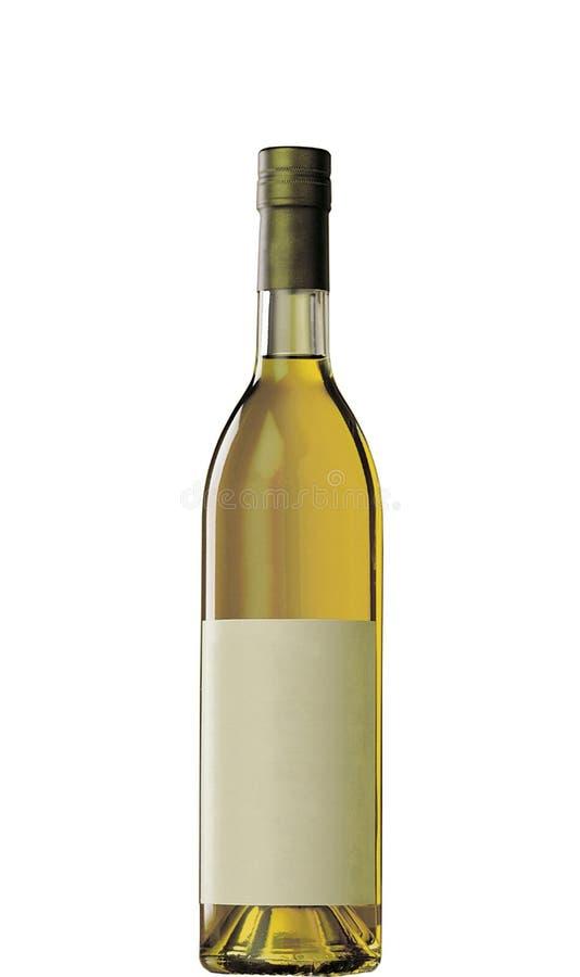 Botella de vino llena aislada fotografía de archivo libre de regalías