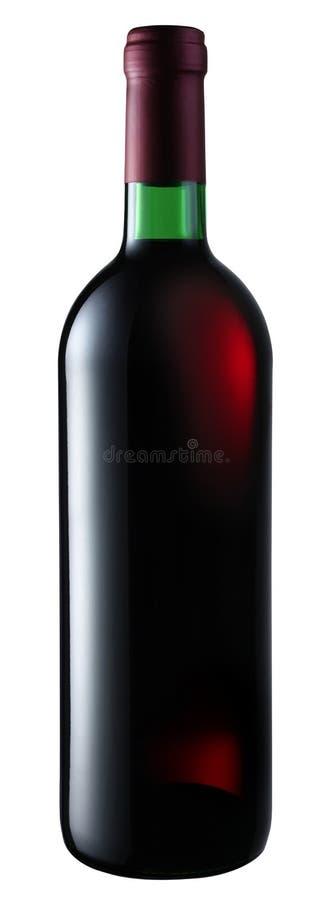 Botella de vino rojo foto de archivo