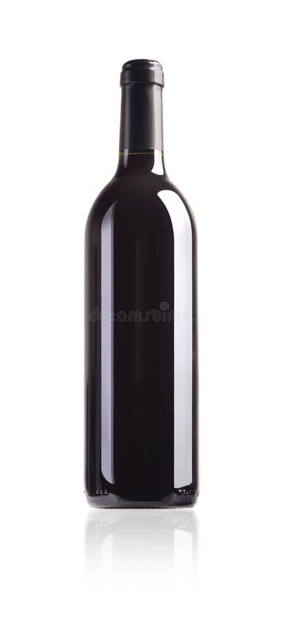 Botella de vino rojo foto de archivo libre de regalías