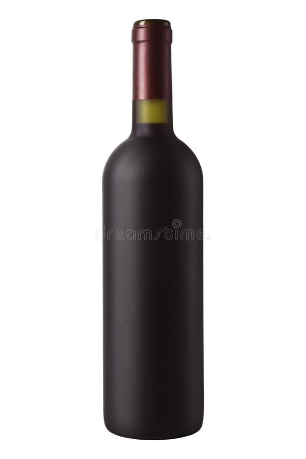 Botella de vino rojo imagen de archivo libre de regalías