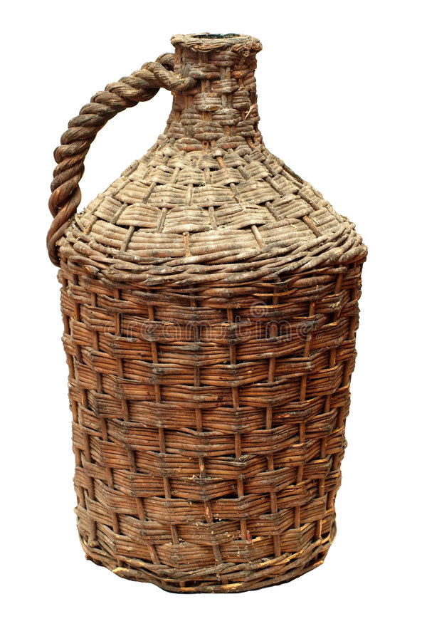 Botella de vino tradicional vieja imagenes de archivo