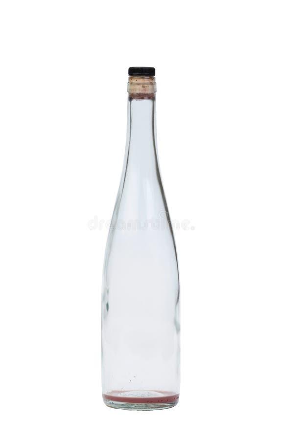 Botella de vino vacía foto de archivo