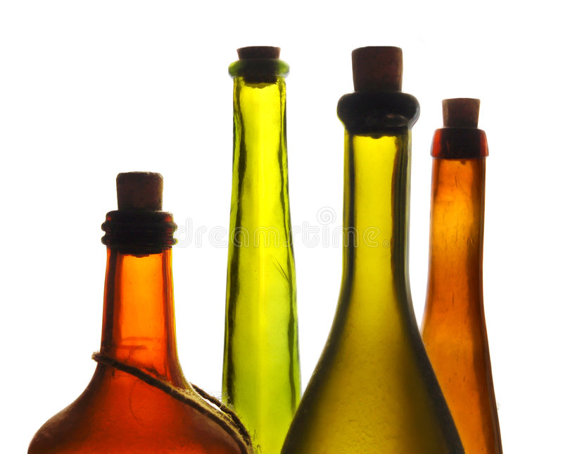 Botella de vino vieja imagen de archivo libre de regalías