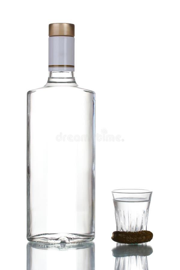 Botella de vodka fotografía de archivo libre de regalías