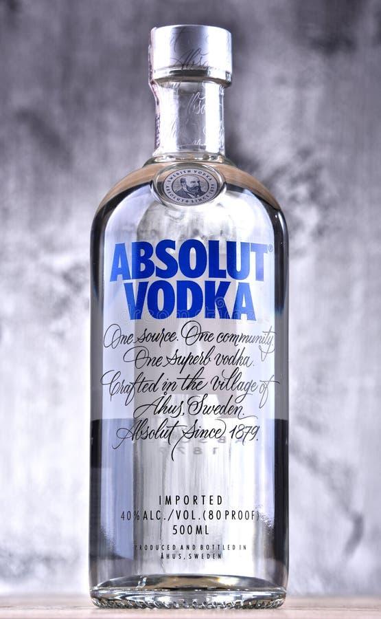 Botella de vodka de Absolut fotografía de archivo