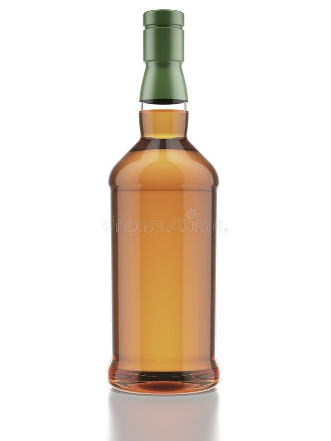 Botella de whisky ilustración del vector