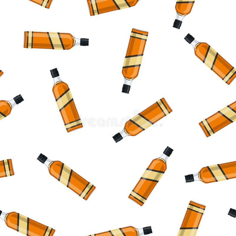 Botella de whisky de borbón libre illustration