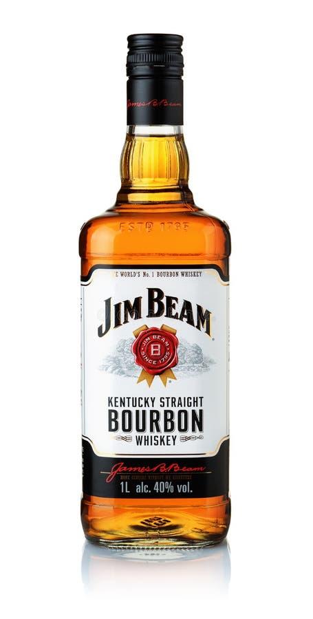 Botella de whisky de borbón de Jim Beam foto de archivo libre de regalías