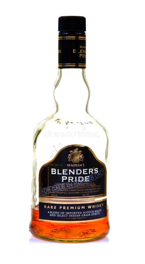 Botella de whisky del orgullo del mezclador de Seagram fotos de archivo libres de regalías