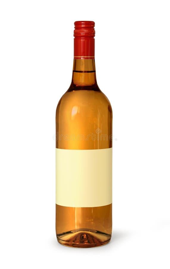 Botella de whisky en blanco imágenes de archivo libres de regalías