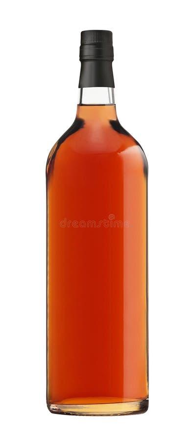 Botella de whisky en blanco imagen de archivo libre de regalías