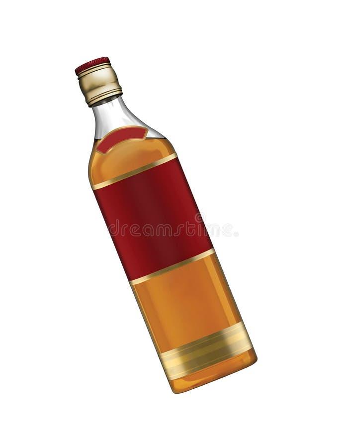 Botella de whisky llena imagenes de archivo