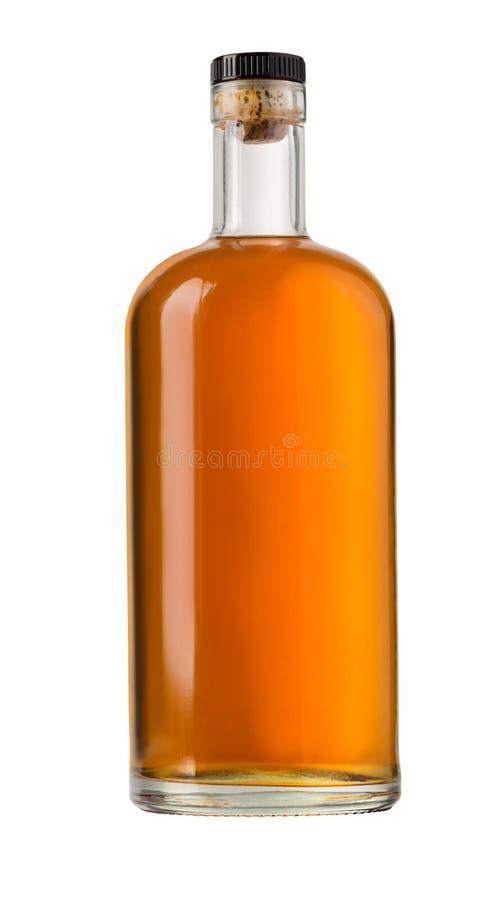 Botella de whisky llena fotos de archivo libres de regalías
