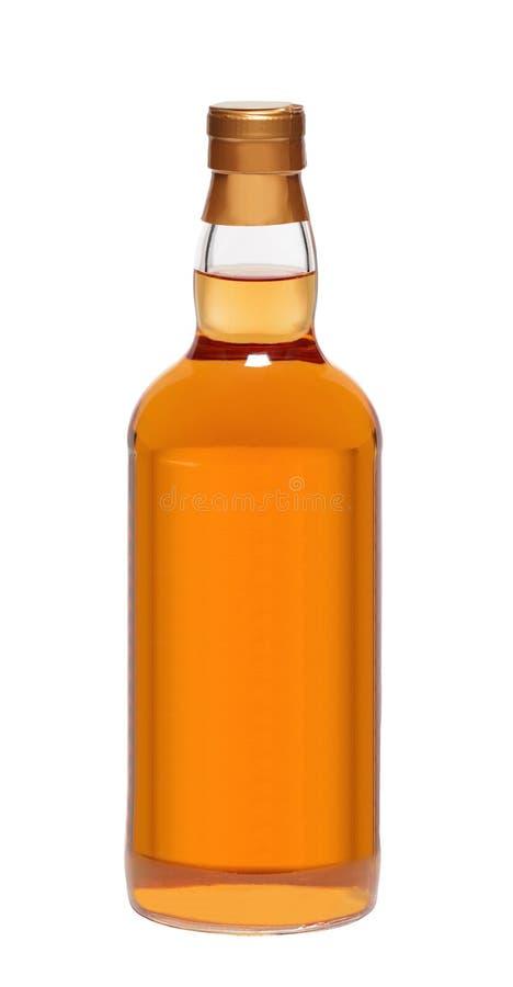 Botella de whisky llena foto de archivo libre de regalías