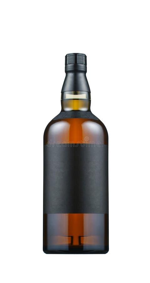Botella de whisky llena fotografía de archivo libre de regalías