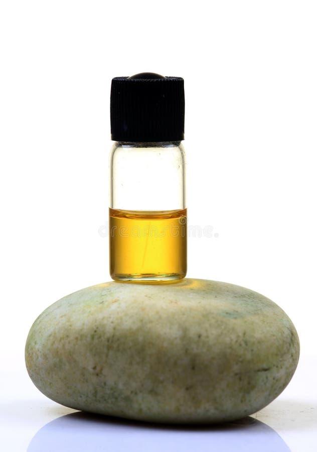 Botella del aceite de almendra fotografía de archivo
