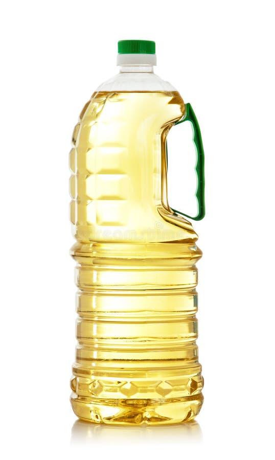 Botella del aceite de cocina imágenes de archivo libres de regalías