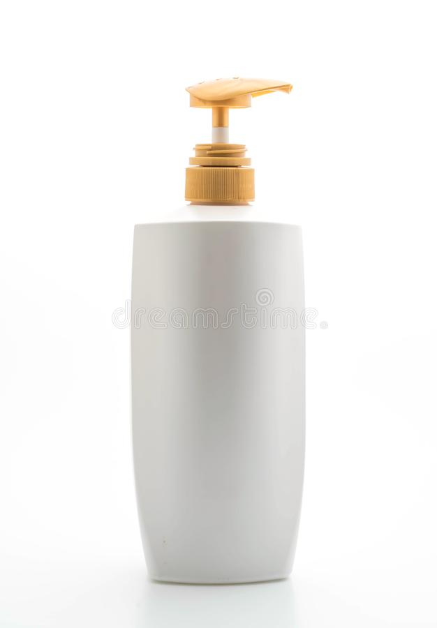 botella del acondicionador del champú o de pelo fotografía de archivo libre de regalías
