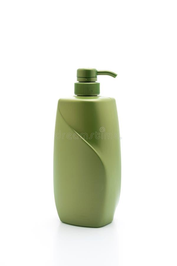 botella del acondicionador del champ? o de pelo en el fondo blanco imagen de archivo libre de regalías