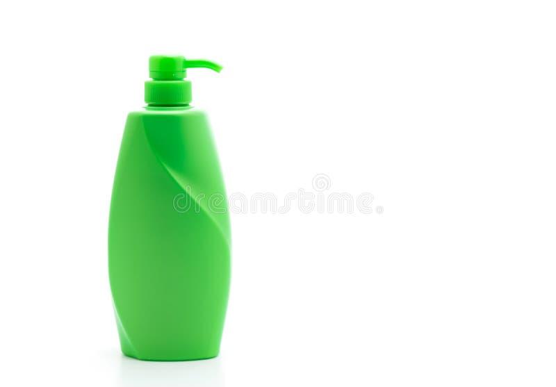botella del acondicionador del champ? o de pelo en el fondo blanco fotografía de archivo libre de regalías