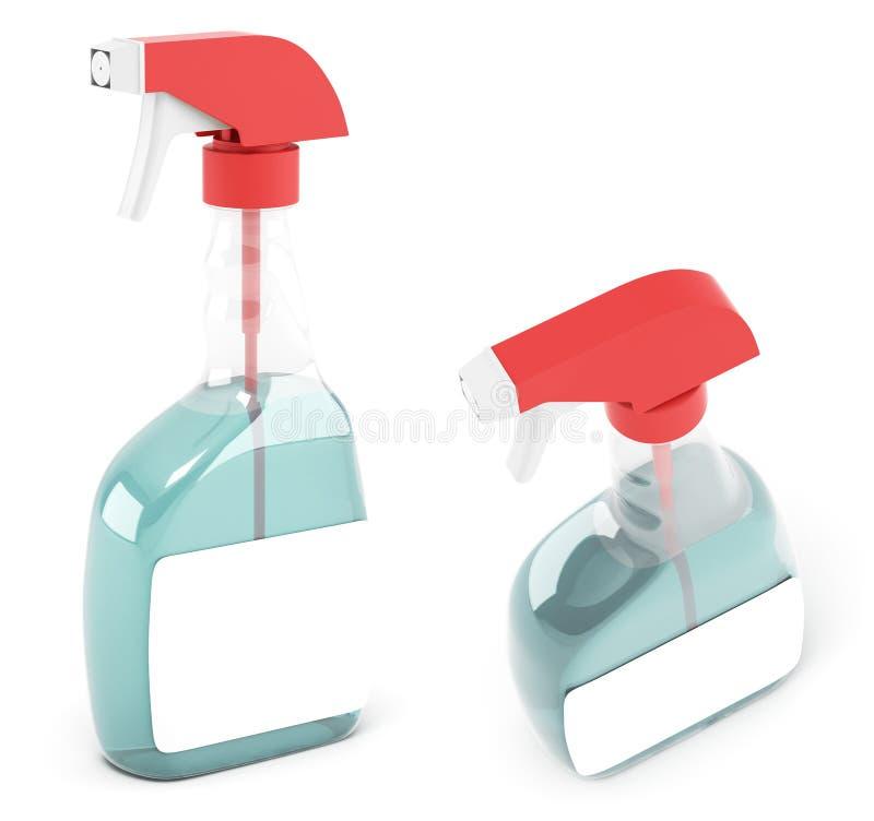 Botella del aerosol stock de ilustración