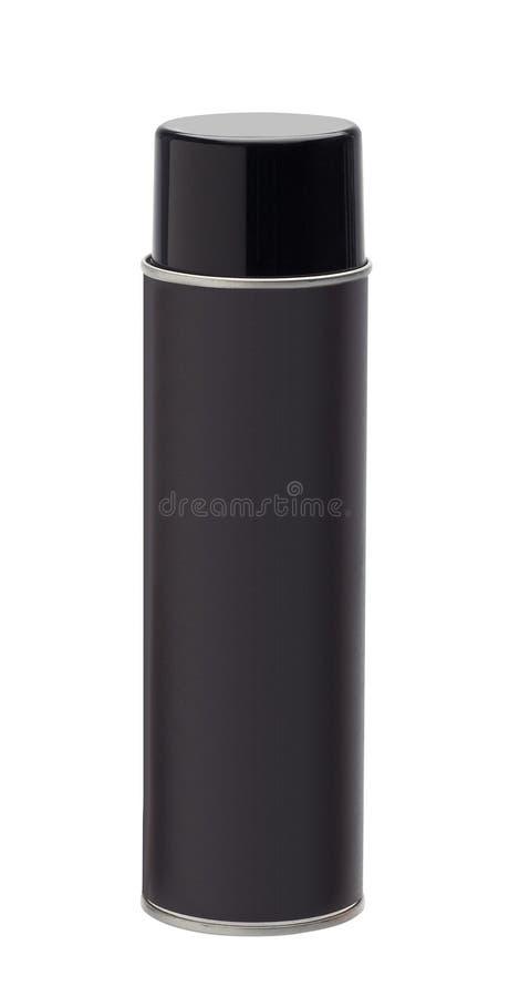 Botella del aerosol aislada en el fondo blanco imagenes de archivo
