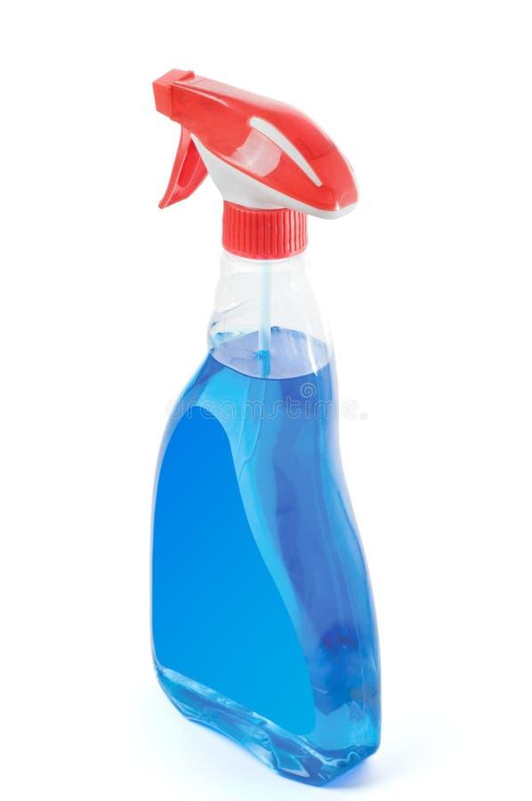 Botella del espray con la etiqueta en blanco fotos de archivo