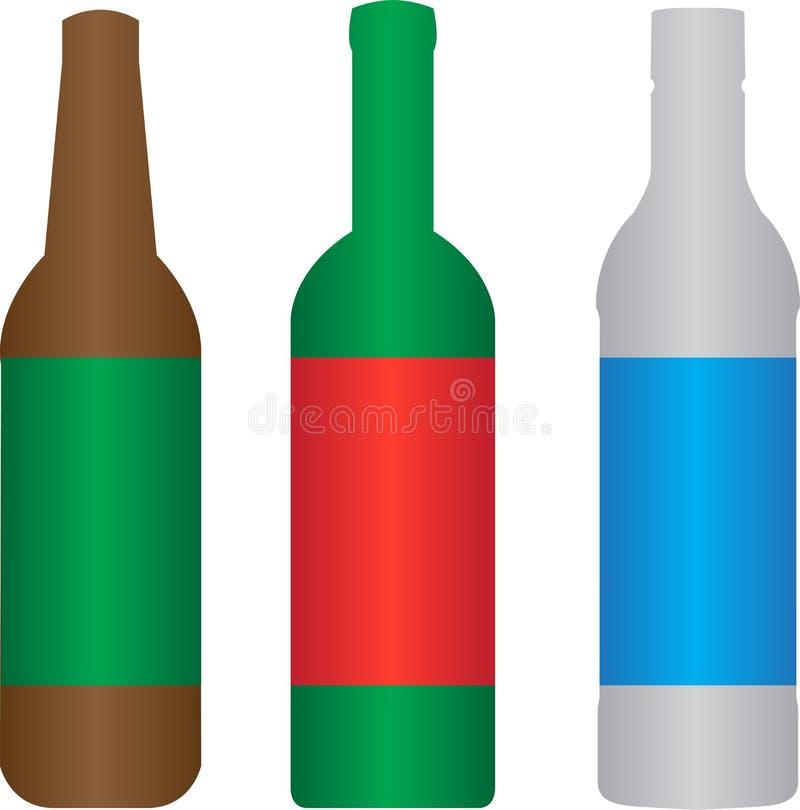 Botella del alcohol del vino de la cerveza fotos de archivo