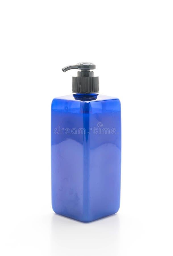 botella del champú o del jabón en el fondo blanco fotografía de archivo