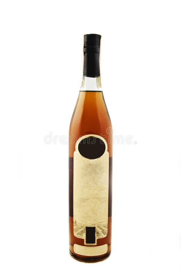 Botella del coñac imagenes de archivo