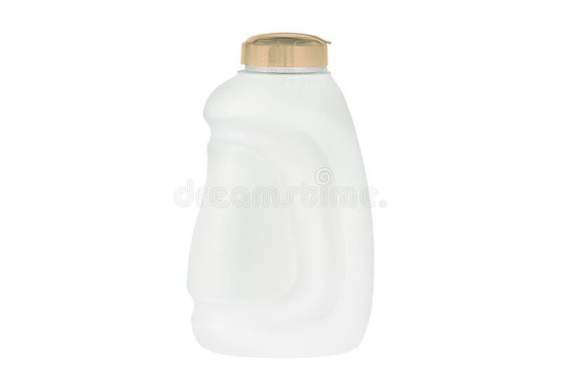 Botella del color de agua aislada en blanco fotografía de archivo