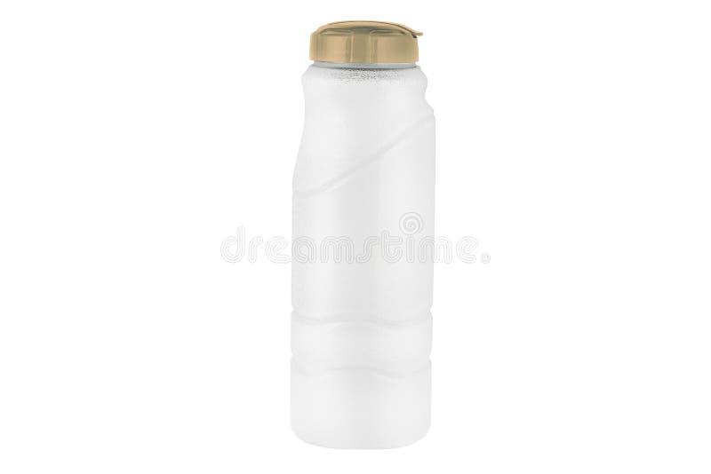 Botella del color de agua aislada en blanco imagen de archivo