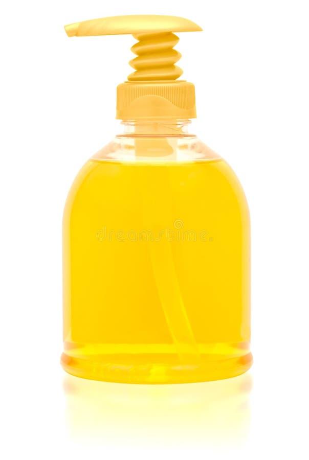 Botella del dispensador de jabón líquido. imagen de archivo libre de regalías