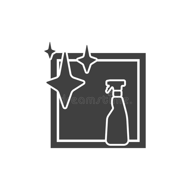 Botella del espray e icono aislado ventana ilustración del vector
